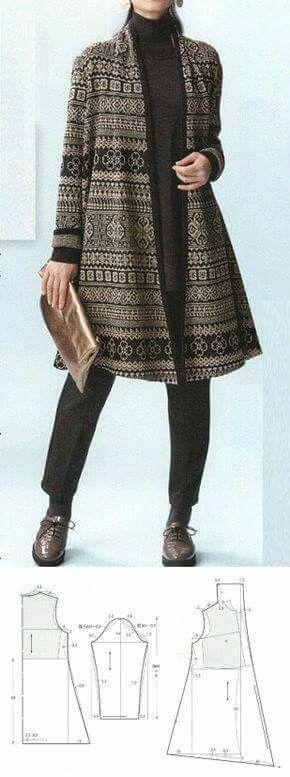 Patrón suéter asumetrico