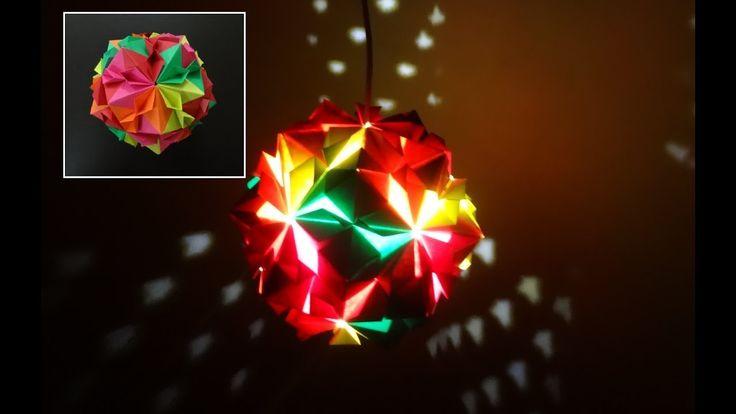 Paper Crafts (Diwali Decoration Ideas):Beautiful Multicoloured Origami L...
