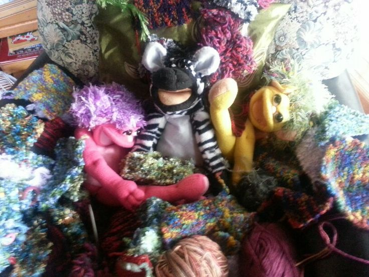 Cuddle Puppets hold a Wool party for Zebe