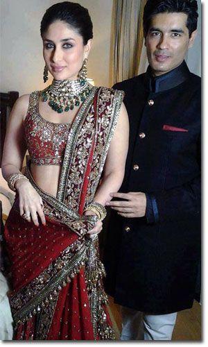 Manish Malhotra - Kareena Kapoor - Indian bride - red wedding lengha - Indian wedding jewellery - statement necklace - Indian couture #thecrimsonbride