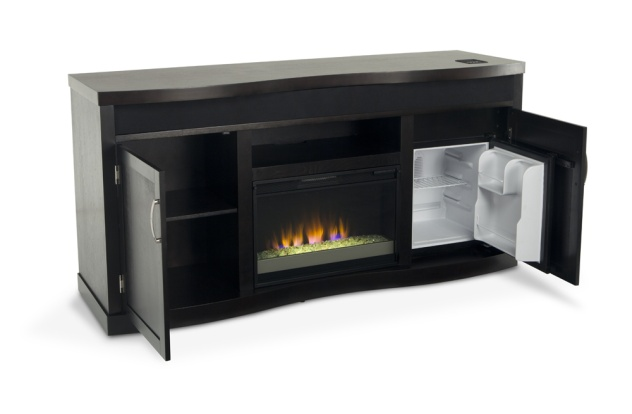 Entertainment Center Fireplace With Ipod Dock And Mini