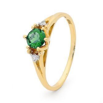 Buy our Australian made Emerald and Diamond Coronet Ring - BEE-25219-G online. Explore our range of custom made chain jewellery, rings, pendants, earrings and charms.