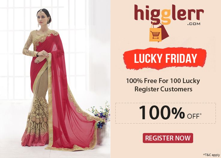 """Few Hours Left ! Hurry up ! Register On Higglerr.com & Get 100 % Free 100 Lucky Register Customers!"" Awesome post by Higglerr Free Friday Offer #fashion"