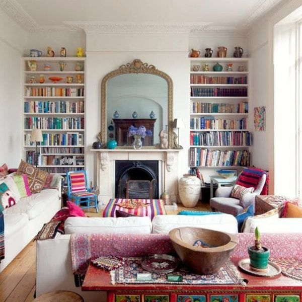 How To Make Your Cluttered Bookshelf Look Stylish Living Room