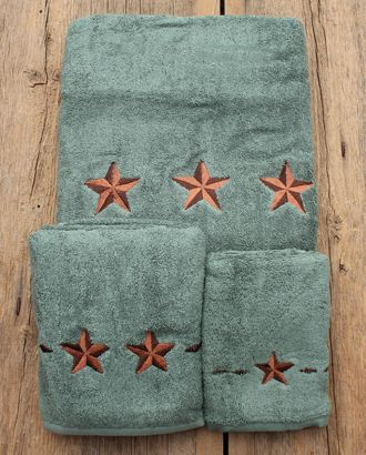 Turquoise Star Towel 3 Piece Set ::Bathware::Decor & Gifts::Fort Western Online