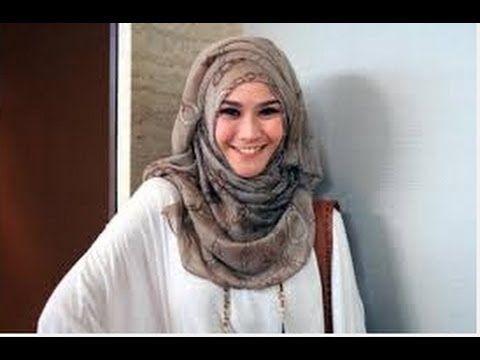Tutorial Hijab Simple Trendy Segi Empat Ala Zaskia Adya Meca - YouTube
