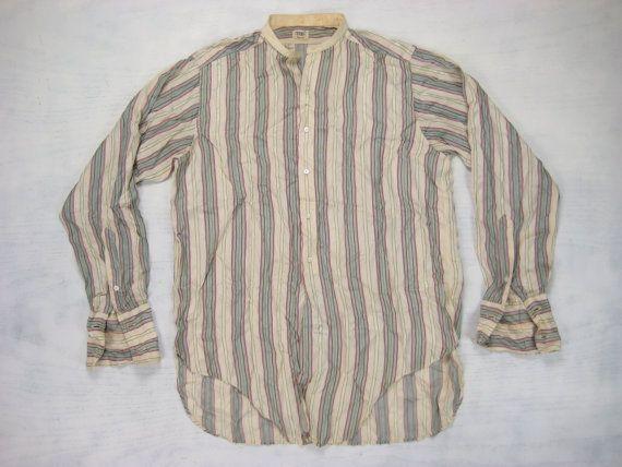 858.52 kr. 1920s Men's Silk Shirt  Vintage Mens Vintage by NormalAveVintage