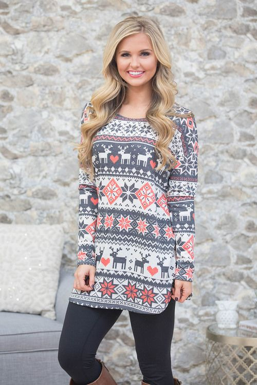 This beautiful pullover is sure to have you dreaming of snowy days!