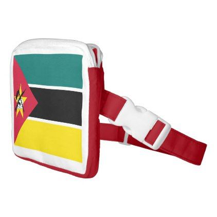 Mozambique Flag Fanny Pack - accessories accessory gift idea stylish unique custom
