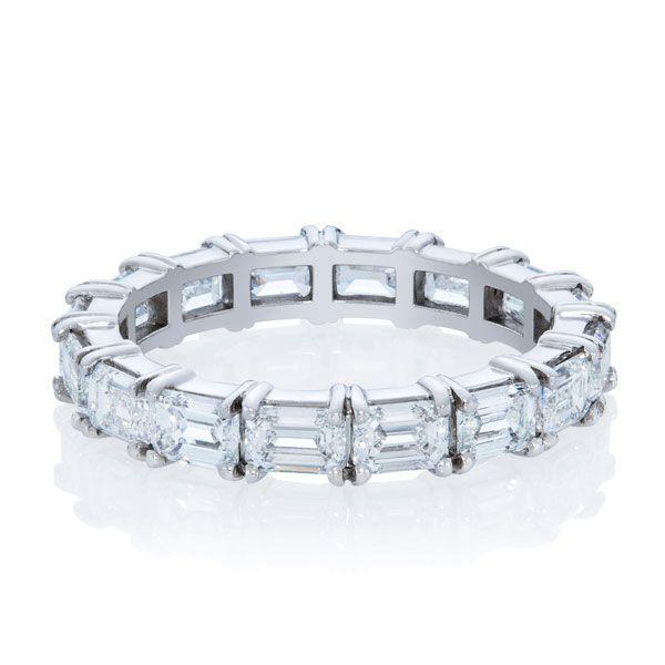 Full hoop Emerald cut diamond ring - Stones Diamonds