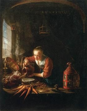 Woman Pouring Water into a Jar - Gerrit Dou
