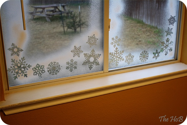 Spray snow on my AZ windows