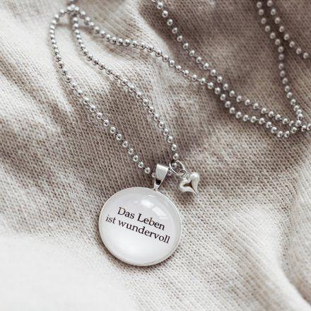 Spruchketten: Für jeden Anlass und jeden Humor gibt es passende Statement-Ketten. Geschenke für Frauen, Ketten, Schmuck, silber, Weihnachtsgeschenke