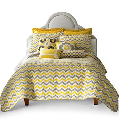 Happy Chic by Jonathan Adler Lola Quilt Set & Accessories - jcpenney (For our new bedroom together?)