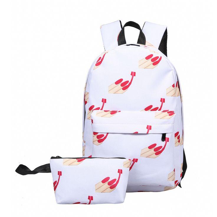 2pcs High fashion Cool Kids Cute smile Emoji Backpack Child ransel School mochila Backpacks Bookbag Printed Students Bag