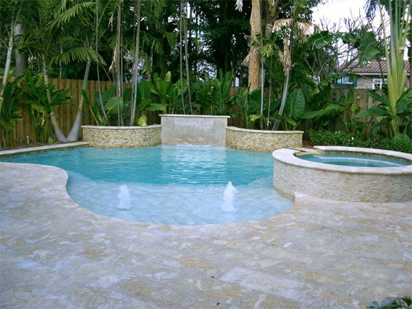 Small back yard pools with spas signature pools spas for Pool and spa show usa