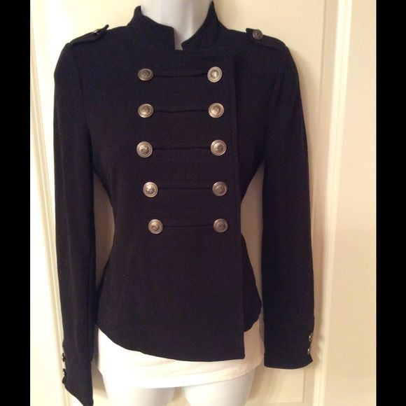 Black cotton material jacket. Very comfy long sleeve jacket in great condition Express Jackets & Coats