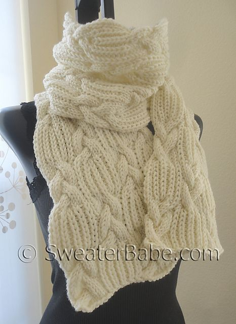 Ravelry: #159 Ultimate Chunky Cables and Ribs Scarf pattern by SweaterBabe