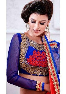 rouge sari en mousseline de soie, - 147,00 €, #RobeIndou2016 #TenueBollywood #LaModeIndienne #Shopkund