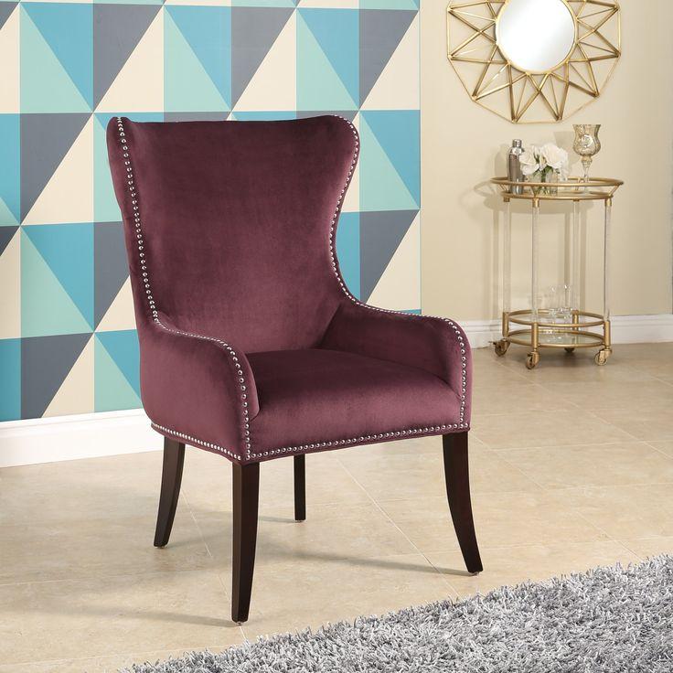 velvet side chair purple