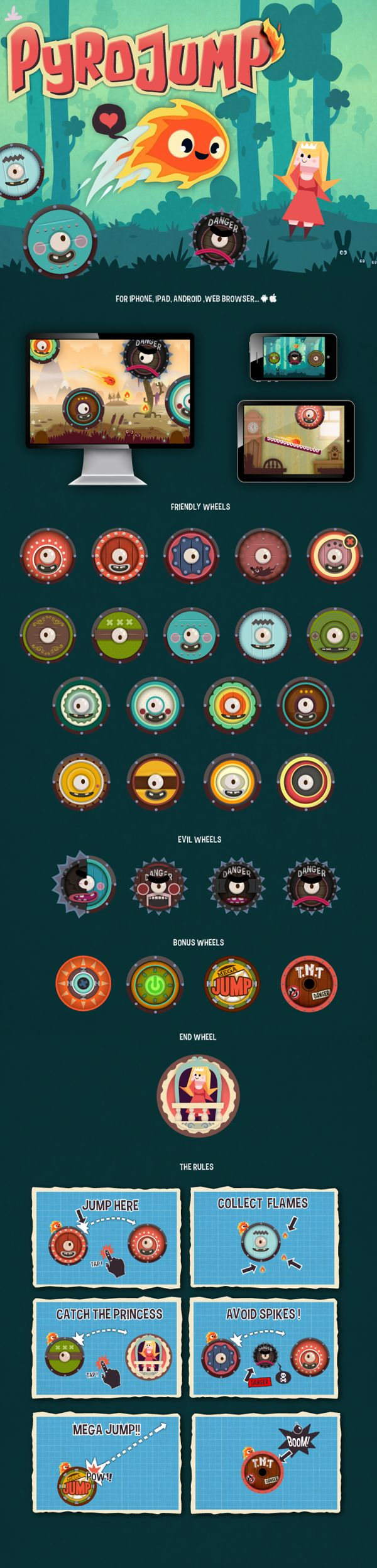 roles-Pyro Jump - video game by Alexandre Imbert, via Behance