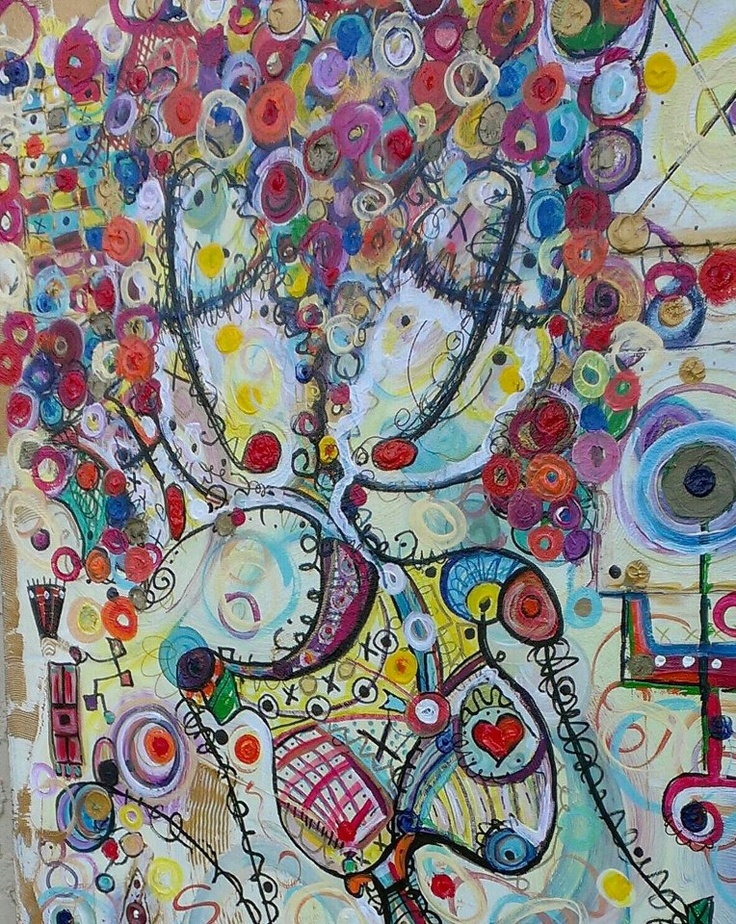 Cropped image of Miss Thing - canvas- 56x24 by Kim Dean