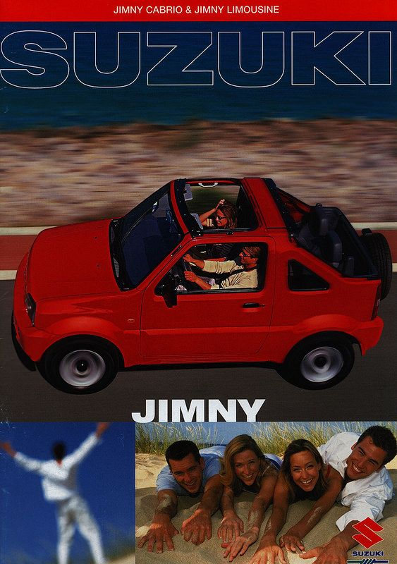 Suzuki Jimny Cabrio & Jimny Limousine; 2001 | auto car brochure | by worldtravellib World Travel library - The Collection