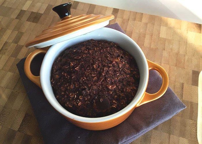 Chocolate baked oatmeal breakfast - Karlijnskitchen.com