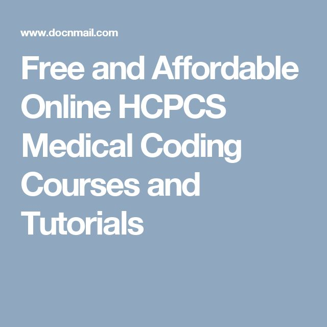 Free and Affordable Online HCPCS Medical Coding Courses and Tutorials