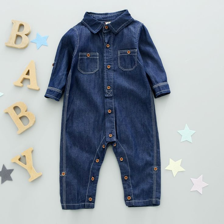 kids girls boys denim overalls baby thick long Sleeve Single-Breasted Side Pockets casual Denim Jumpsuit children clothing 1-6T