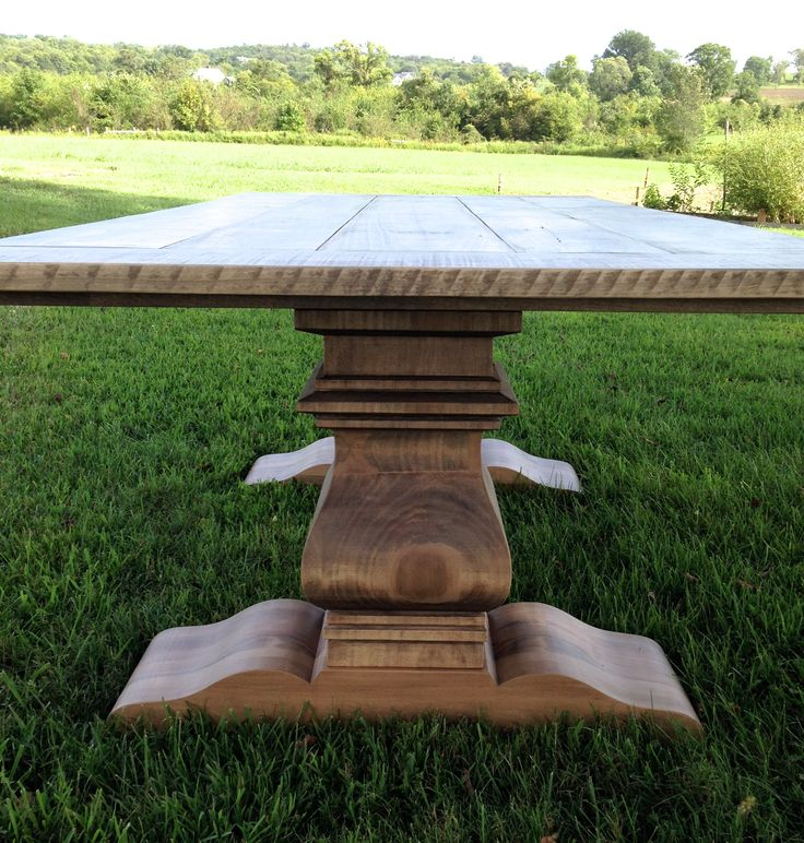 best Hand-Built Farm Tables  on Pinterest