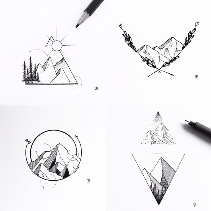Mountain galore! #illustration #illustrator #design #sketch #drawing  – Lacie LaRoque