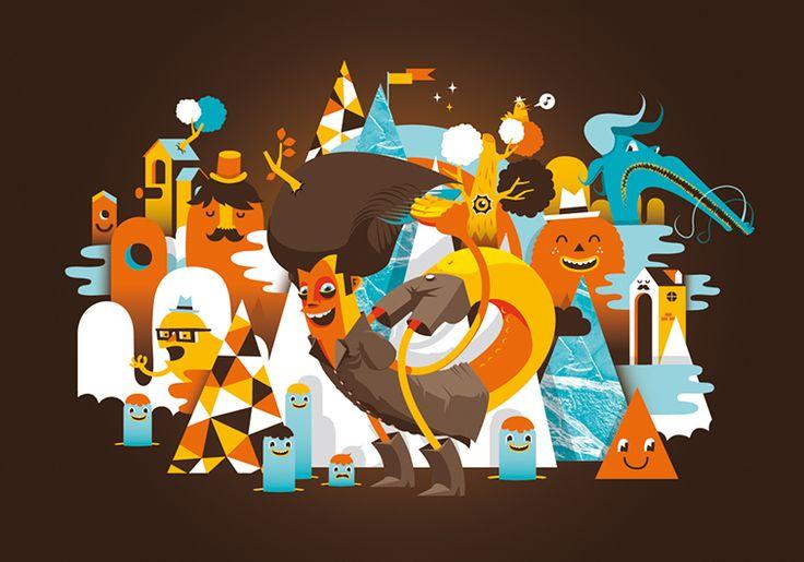 Art Illustrations, Illustration De Conception Graphique, Art Design, Cartoon Style, Patswerk, Illustration Inspiration, Flat Illustration, Vecteur Art,