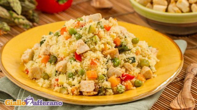 cous cous freddo con pollo e verdure..grande Sonia!!