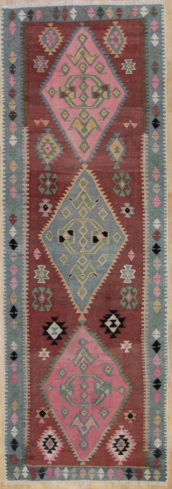 Handgewebter Teppich  365 x 125 cm KILIM KELIM Moderna alfombra oriental