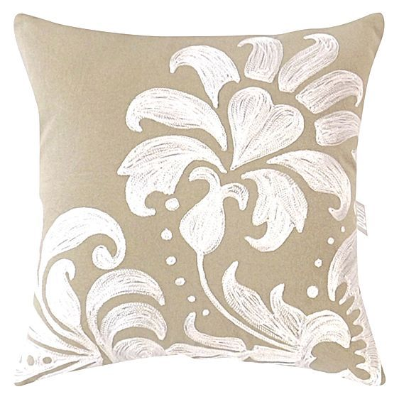Neutral tones and classical florals make the Audrey Cushion from DG37 a cosy and feminine look in your modern home.