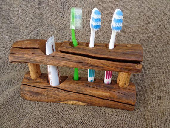 Wooden Toothbrush Holder Rustic Toothbrush Holder от Woodber