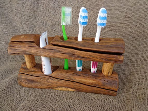 Wooden Toothbrush Holder Rustic Toothbrush Holder от Woodber