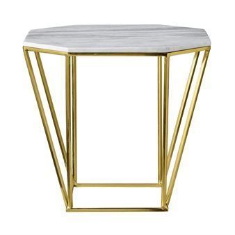 The beautiful little table with marble top from Bloomingville is made of a black pentagonal shaped frame and has an exclusive top made of pure marble. The table looks great in a living room but can also function as a nice bedside table. Match the table together with other interior products from Bloomingville for a trendy look! Choose from different colors.
