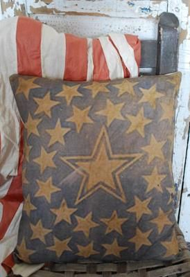 : Cool Pillows, Stars Pillows, American Decor, Primitive Country, American Flag, Primitive Furniture, Red White, Furniture Decor, Country Furniture