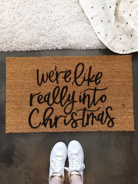 Christmas Door Mat Holiday Doormat Christmas Decor We Re Like