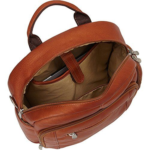 Piel Leather Laptop Backpack Shoulder Bag