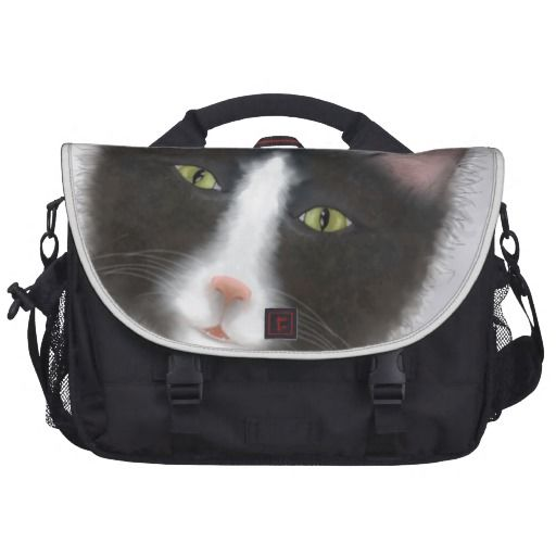 Have your computer guarded by this tough tuxedo cat - Laptop commuter bag http://www.zazzle.co.nz/products_with_tuxedo_cat_images_laptop_bag-256684999107369068