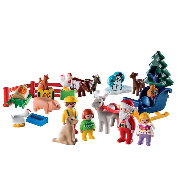 """Playmobil """"Christmas on the Farm"""" 1.2.3 Advent Calendar - 9009, Multicolor"""