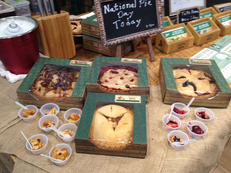 Celebrating National Pie Day at Lowes Foods Community Table with our very own pies.