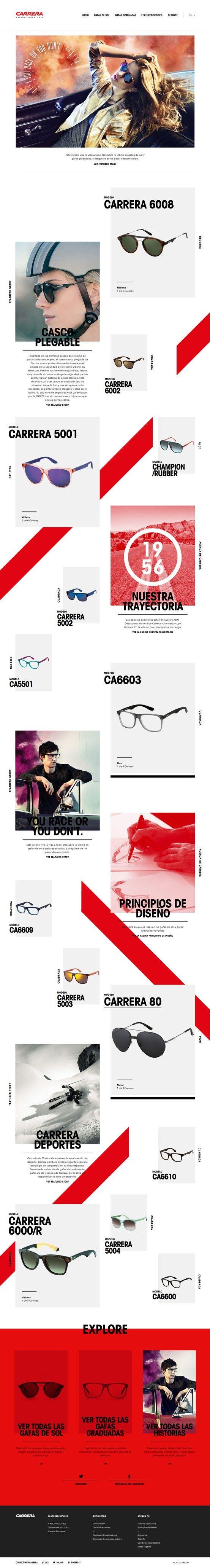 Carrera World Site of the Day 8 May 2013 http://www.awwwards.com/web-design-awards/carrera-world-1 #webdesign #inspiration #UI #Clean #ResponsiveDesign #Trend #Design #Black #White #Red