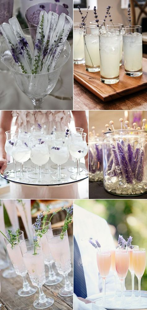 food and drinks for lavender wedding ideas