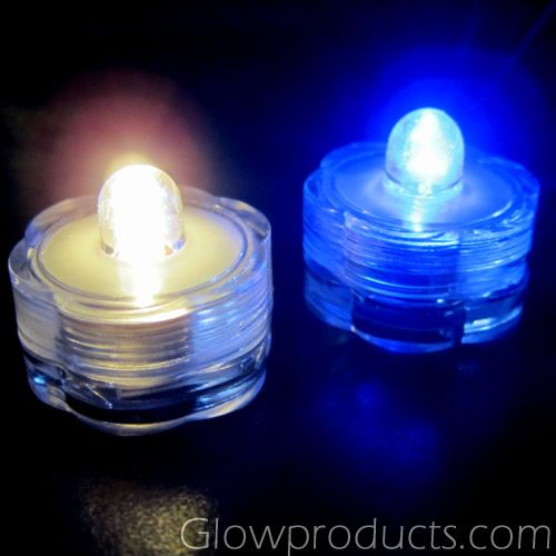 Submersible Water Proof LED Tea Lights   Light Up Flower Vases, Table Decor or Glow Crafts! - http://glowproducts.com/products/HDLPSUB