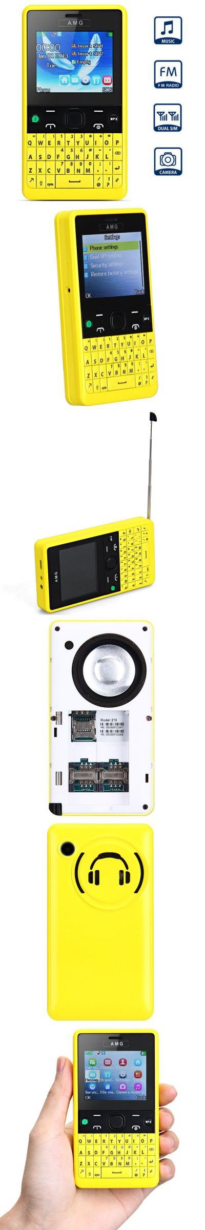 2.2 inch 210 Quad Band Cell Phone Dual SIM Big Speaker Big Battery FM Radio