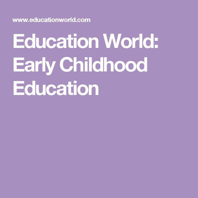 Education World: Early Childhood Education